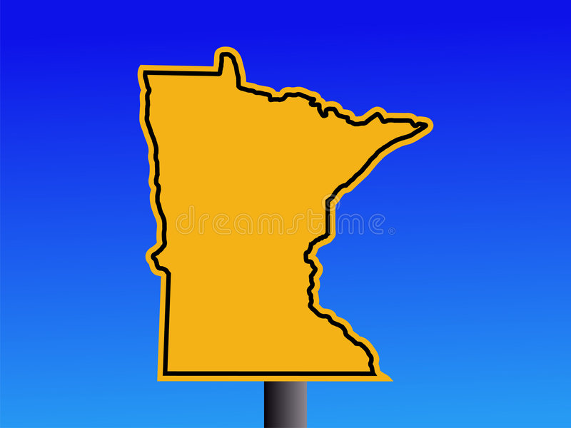 Signal d'avertissement du Minnesota illustration de vecteur