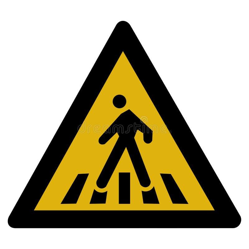 Signal d'avertissement - piéton illustration stock
