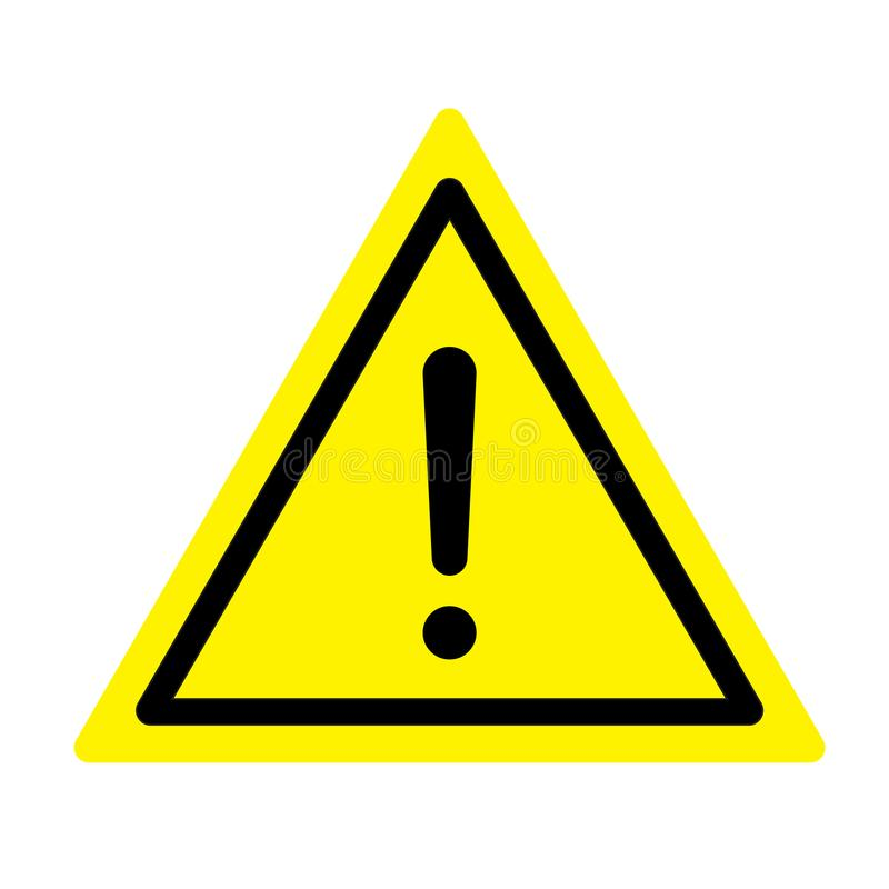 Signal d'avertissement Un symbole d'exclamation illustration stock