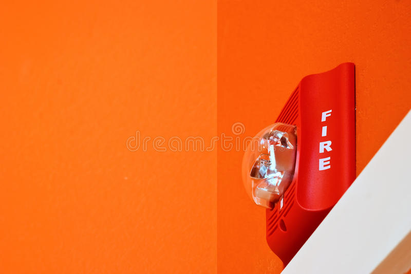 Signal d'incendie image stock