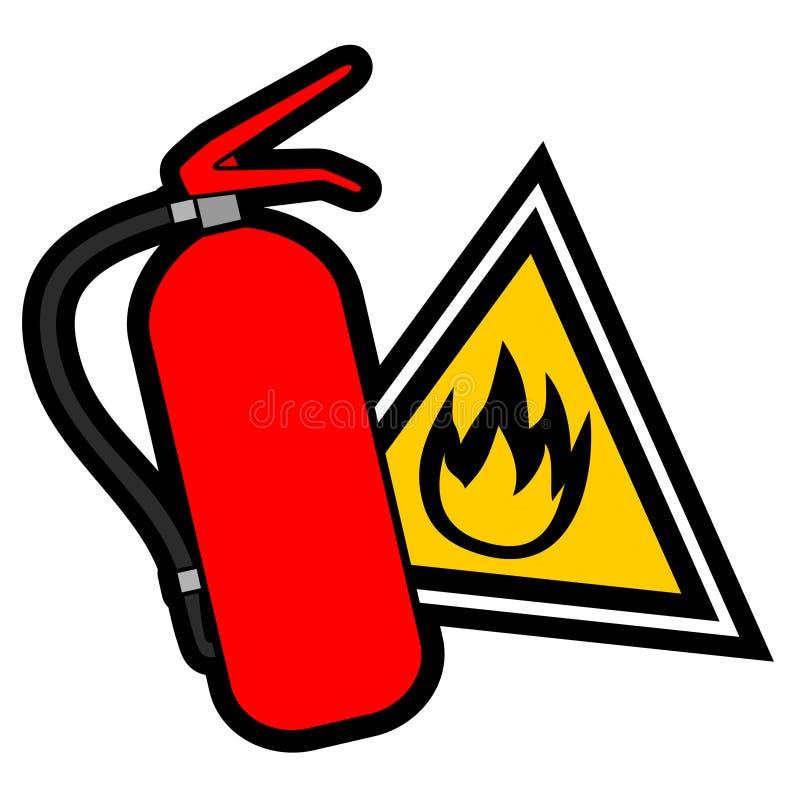 Signal d'incendie illustration stock