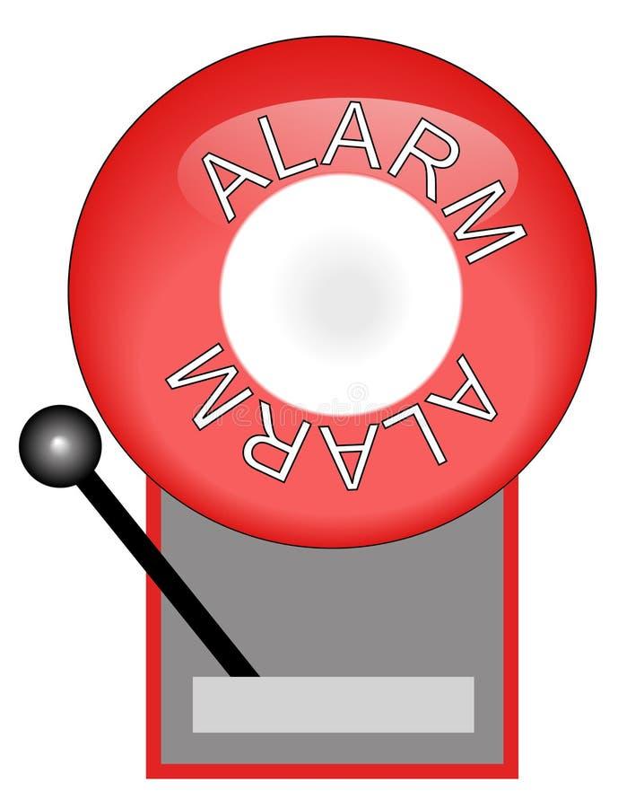 Signal d'incendie rouge illustration stock