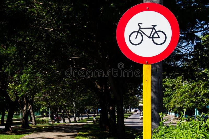 Signal de bicyclette images libres de droits