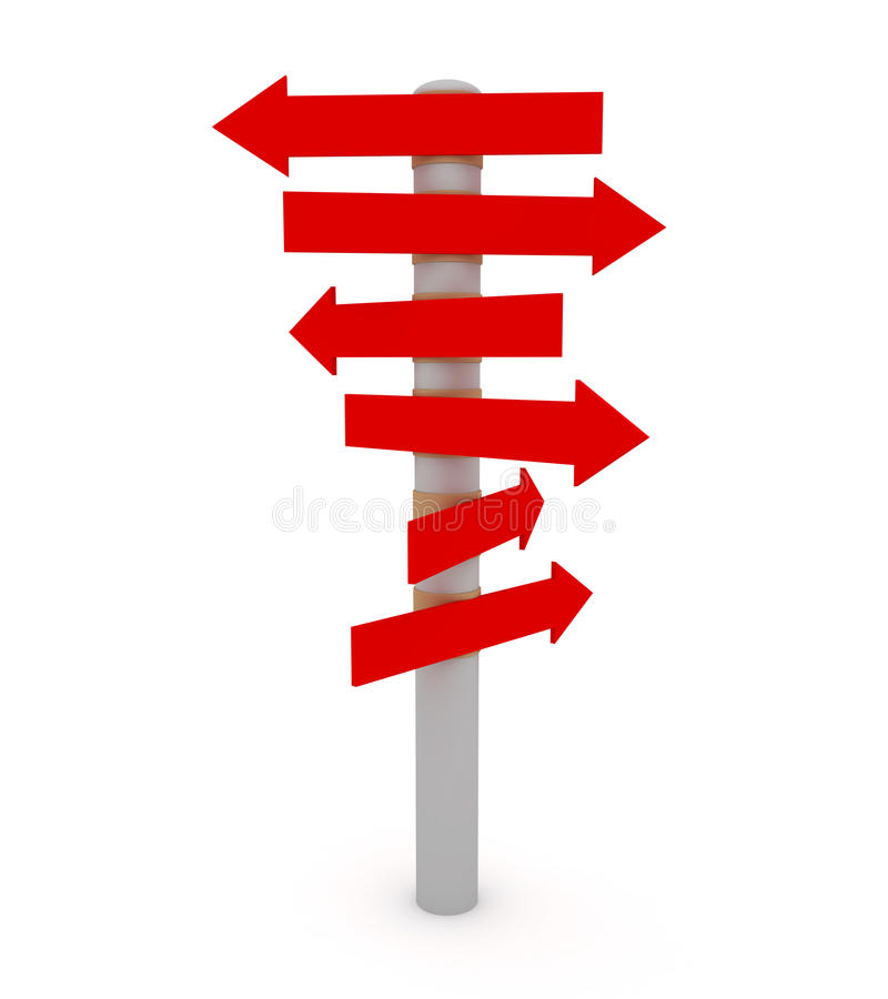 Signal de direction illustration de vecteur