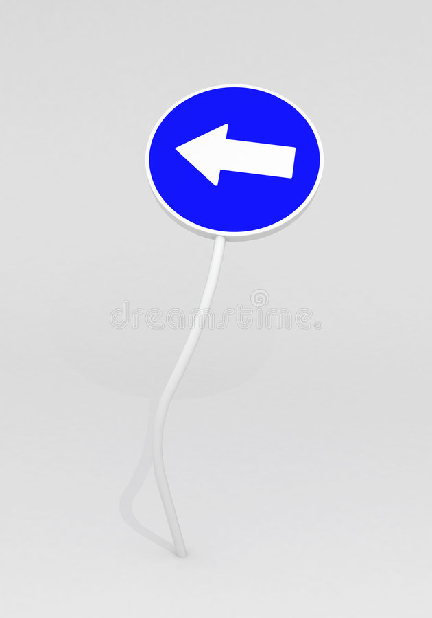 signal de direction illustration libre de droits