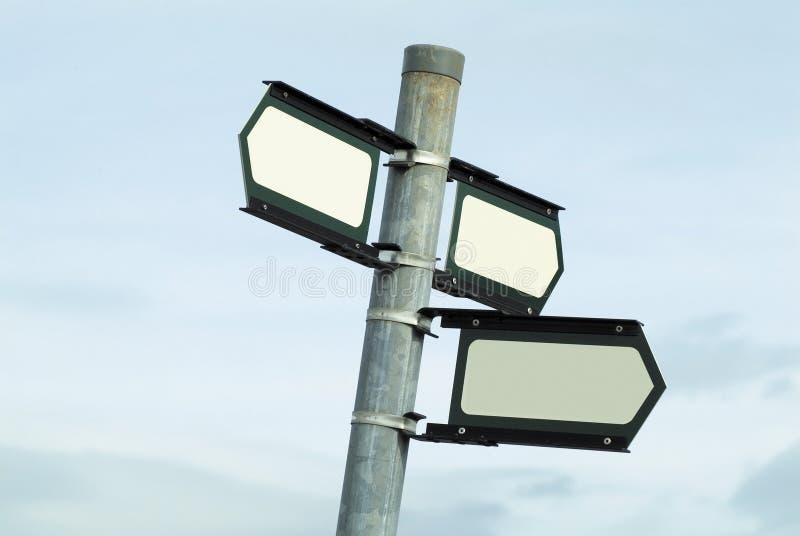 Signal de direction blanc images libres de droits