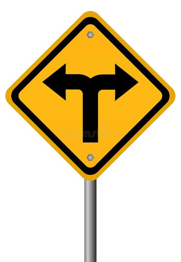 Signal de directions des carrefours deux illustration stock