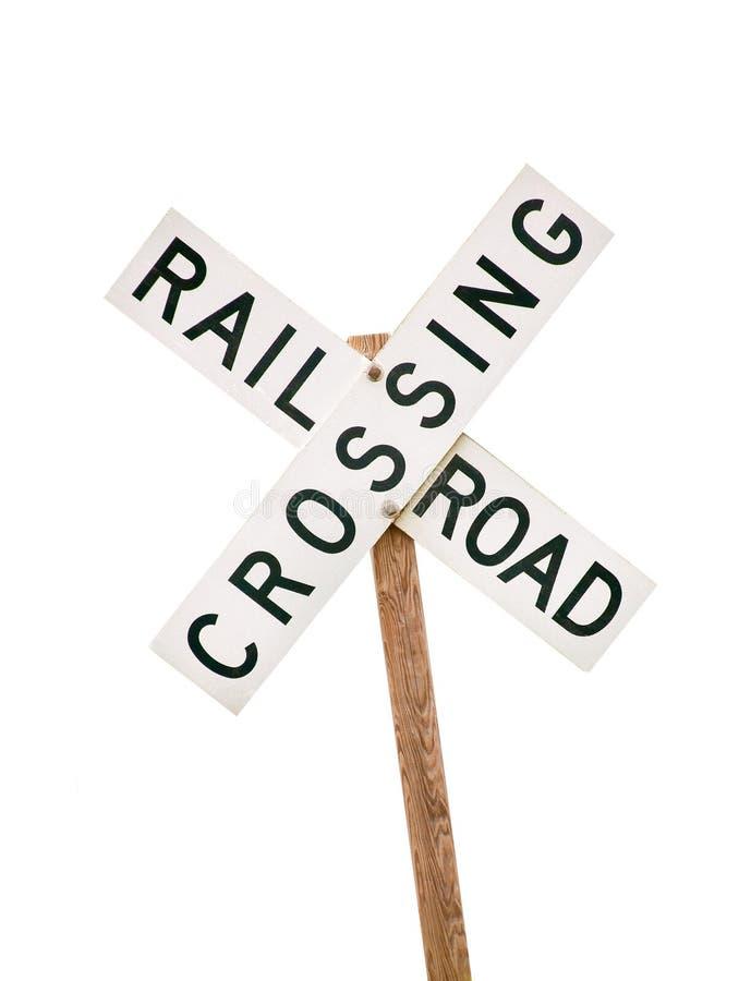 Signal de franchissement ferroviaire photographie stock