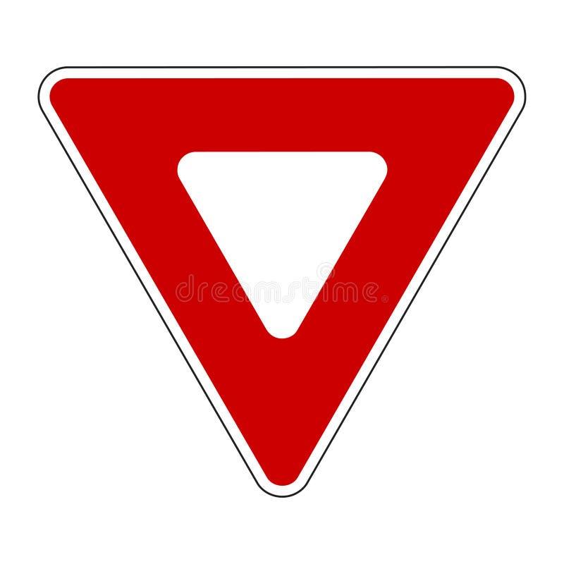 Signal de ralentissement illustration de vecteur