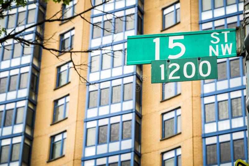Signal de rue dans le Washington DC photos stock