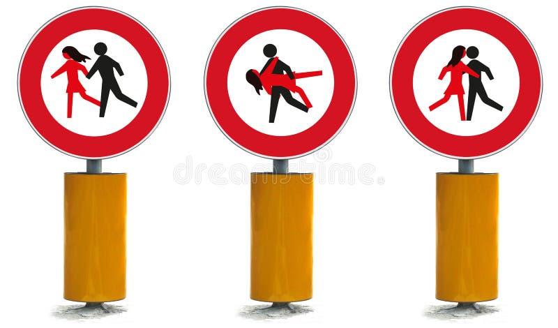 Signal de rue de direction illustration de vecteur