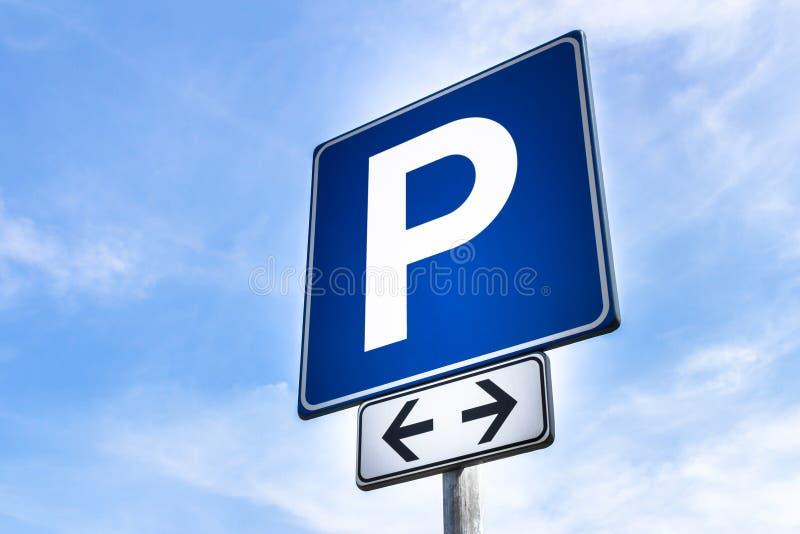 Signal de stationnement photo stock