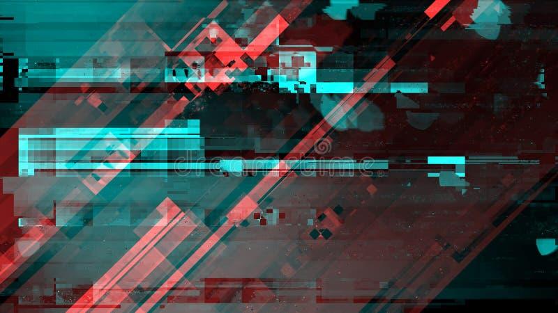 Signal endommagé cassé d'émission de télévision images stock