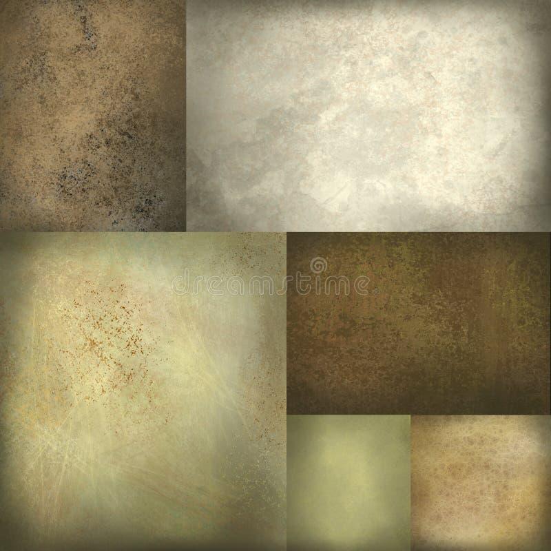 signal för orientering för bakgrundsbrownjord royaltyfri illustrationer