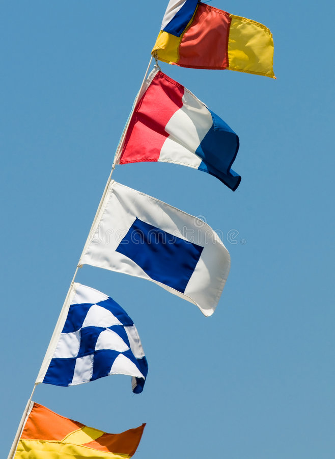 Download Signal flags stock image. Image of nadazero, signal, maritime - 5657243