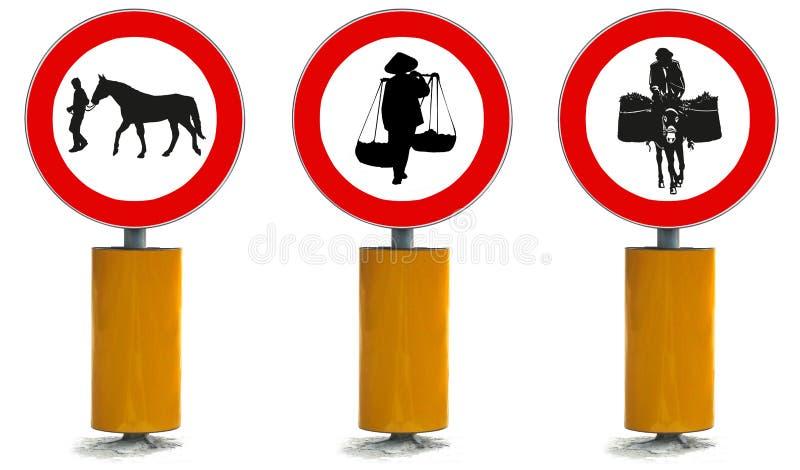 Signal fou de rue de transport illustration libre de droits