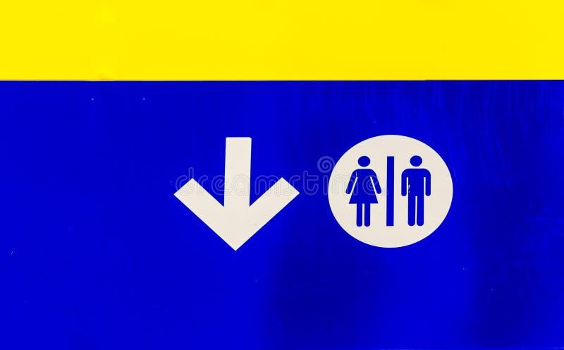 Signal public de salles de bains images libres de droits