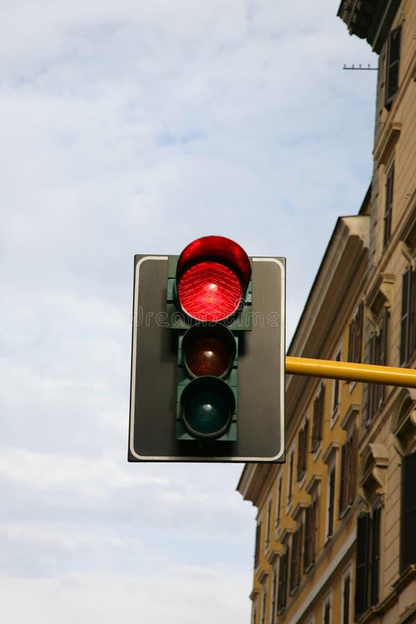 Signal rouge de circulation-lumière images stock