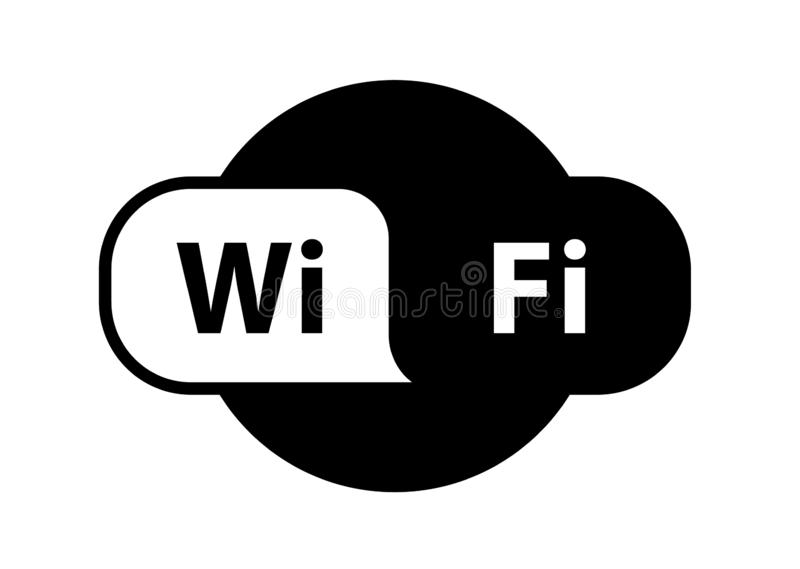 Signal sans fil d'Internet d'emplacement de zone de logo de Wifi plat - pour des actions, icône illustration de vecteur