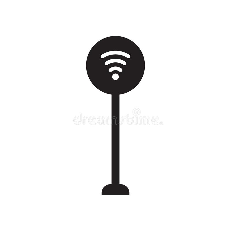 Signal sign icon. Trendy Signal sign logo concept on white background from Traffic Signs collection stock illustration