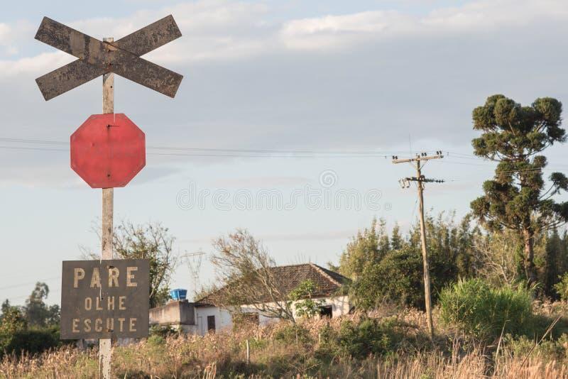 Signaleiro nella giunzione di Ferrviary Bordo attento fotografie stock libere da diritti