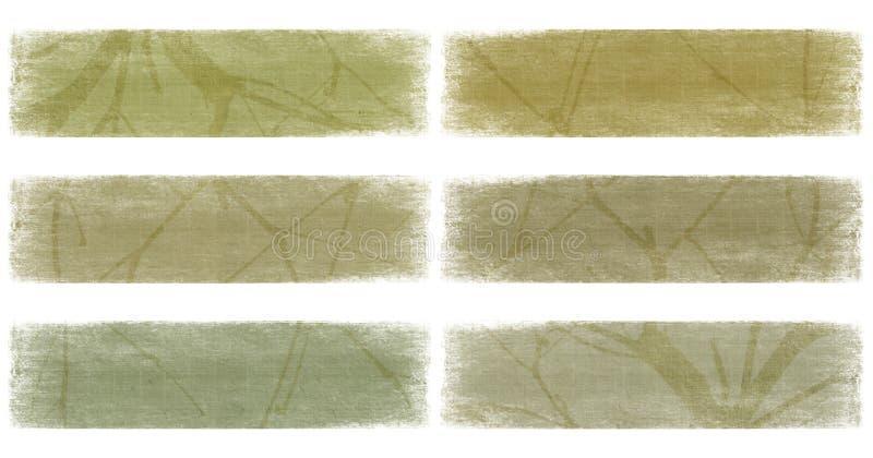 signaler för set för banerfilialjord nautral royaltyfri illustrationer
