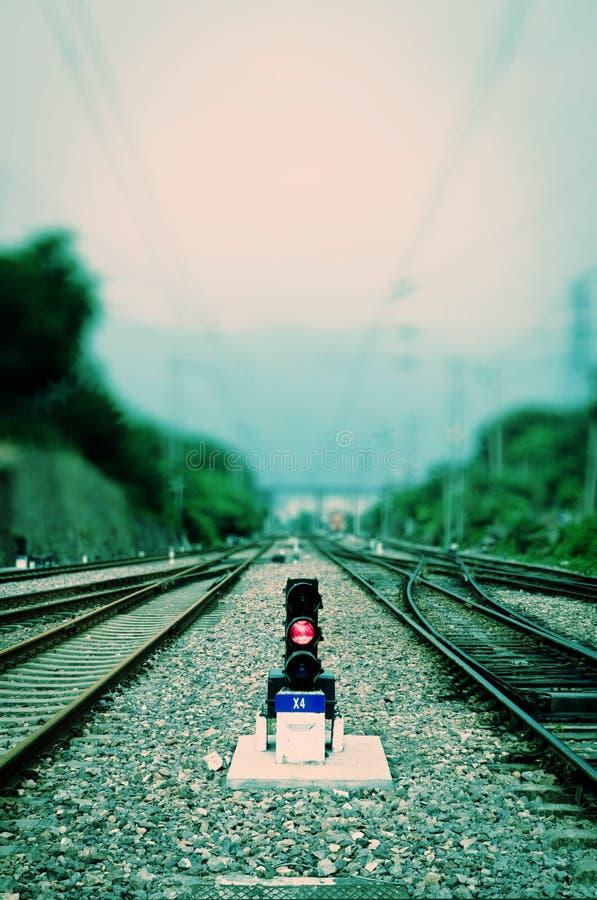 signalering för forntidlampjärnväg royaltyfria foton