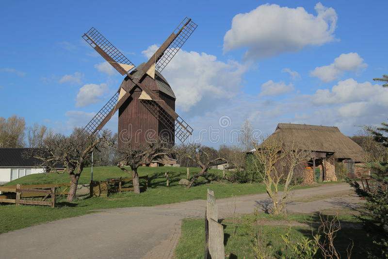 Signalez le moulin dans Eldena, une partie de Greifswald, Allemagne photos stock
