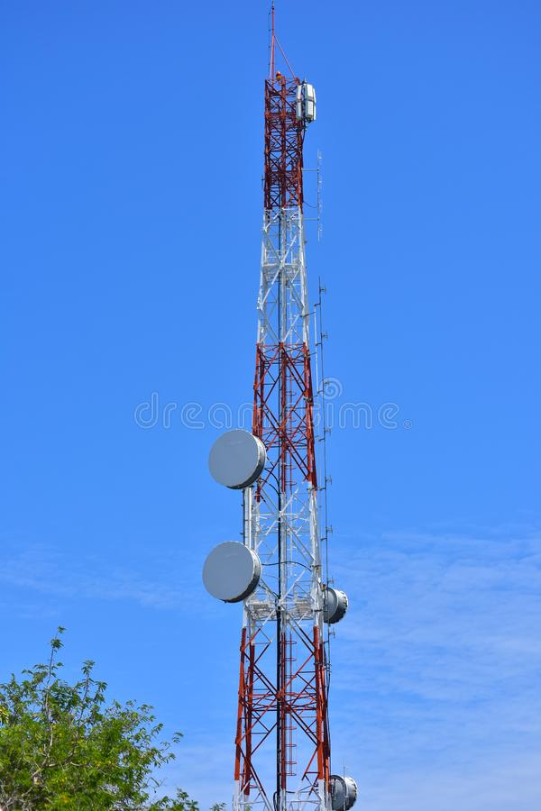 Signaling pole Most radio and TV programs will Installed on high. Signaling pole royalty free stock photos