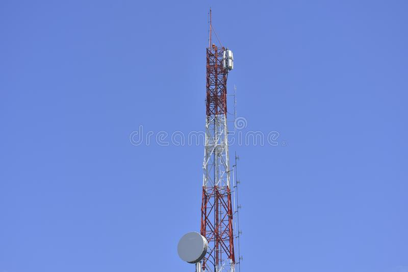Signaling pole Most radio and TV programs will Installed on high. Signaling pole royalty free stock image