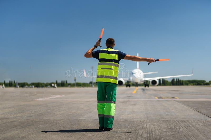 Signalisation de contrôleur de la navigation aérienne image stock