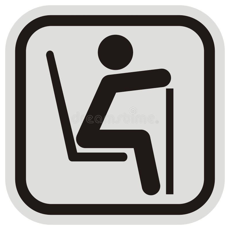 Signalisation, vieux ou handicapé, endroit réservé, illustration de vecteur