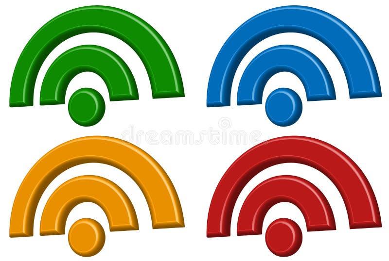 Signalisieren Sie Drahtloser Verbindung, Wifi, Drahtlose Internet ...
