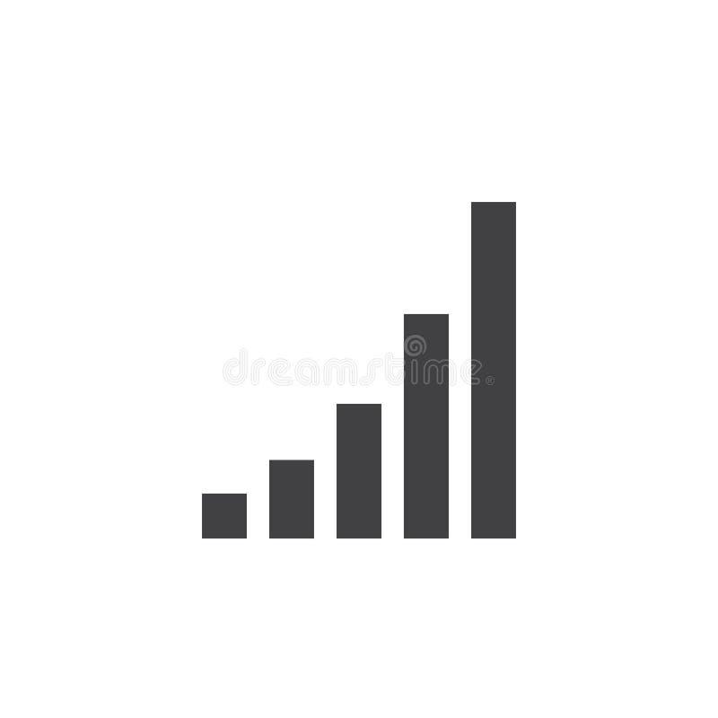 Download Signalisieren Sie Ikone, Fester Logoillustration Des Wachsenden Diagramms, Picto Stock Abbildung - Illustration von fest, ikone: 90234695
