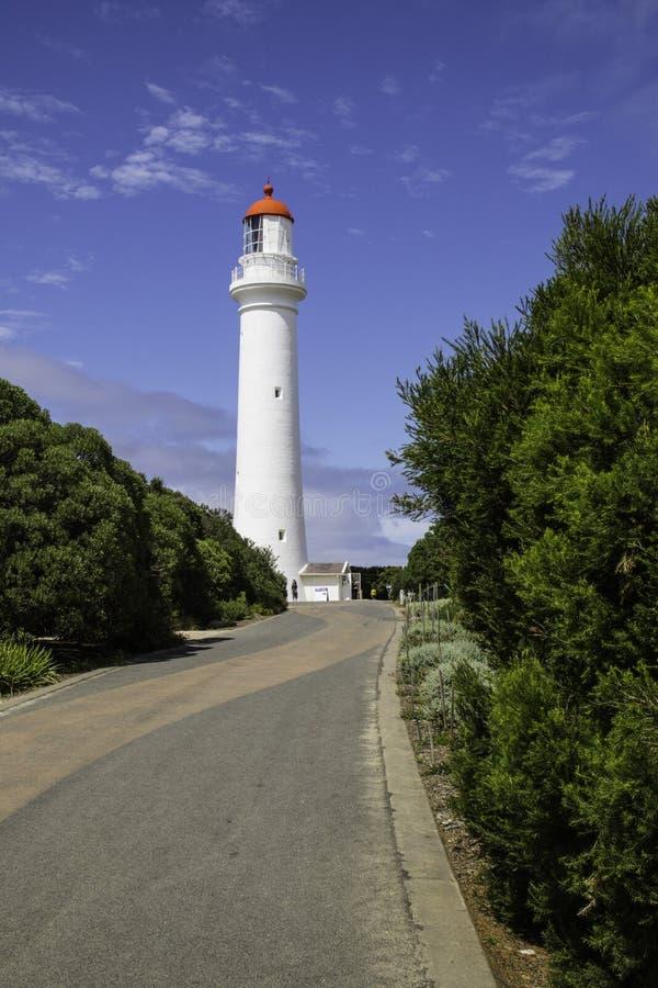 Signallaterne in Australien für Navigation lizenzfreies stockfoto