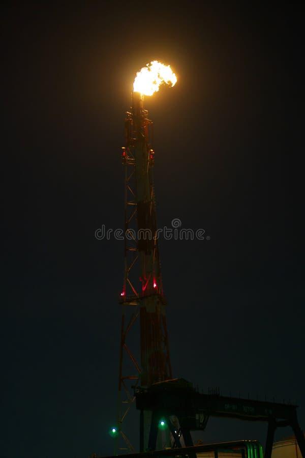 Signalljusbunt på natten fotografering för bildbyråer