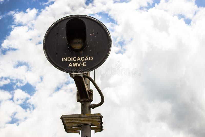 Signalman i niebo obraz stock