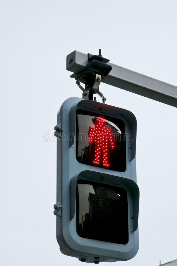 Signals for pedestrians. LED red light for pedestrians royalty free stock photo