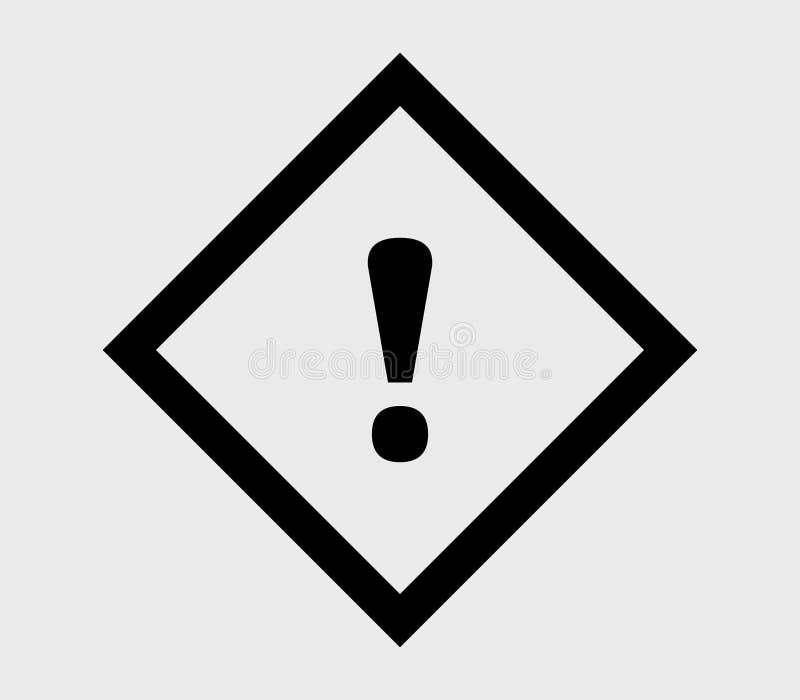 Signalsymbol med illustrerad utroppunkt stock illustrationer