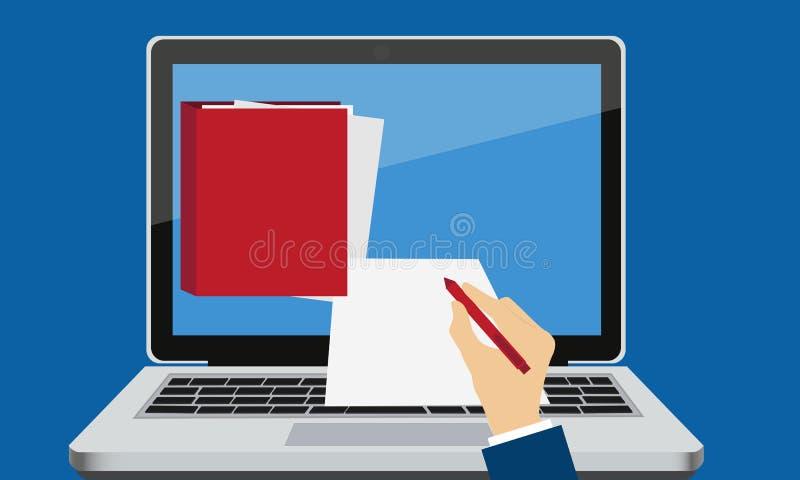 Signature électronique illustration de vecteur