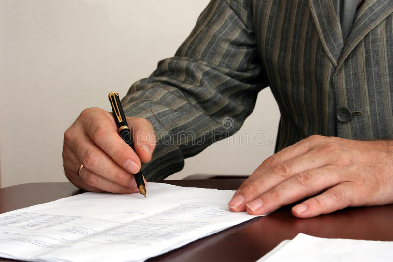 Download Signature stock photo. Image of business, signature, human - 15335508