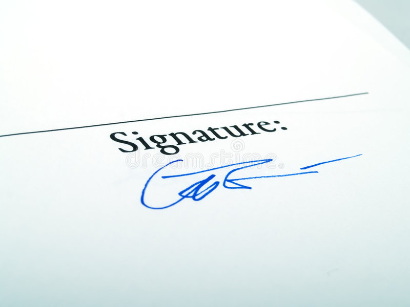 Signature image stock