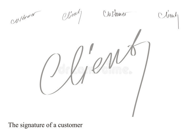 Signature illustration stock