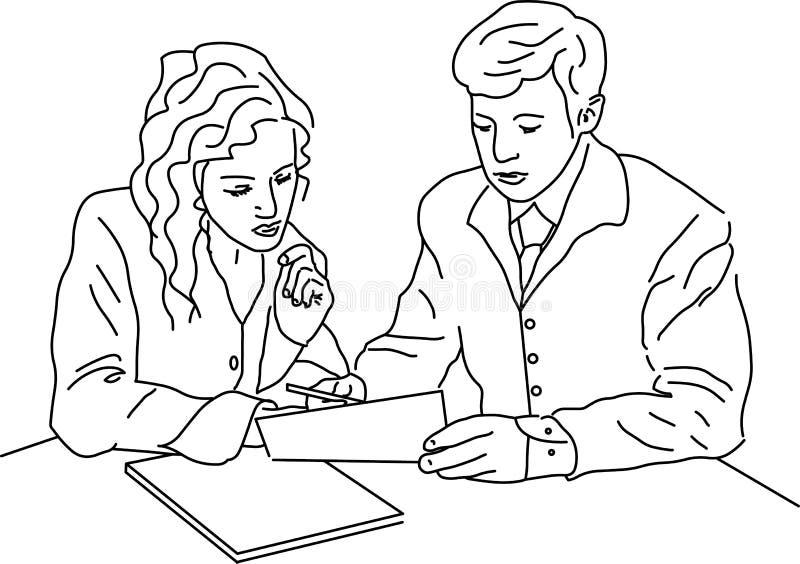 Signature illustration libre de droits