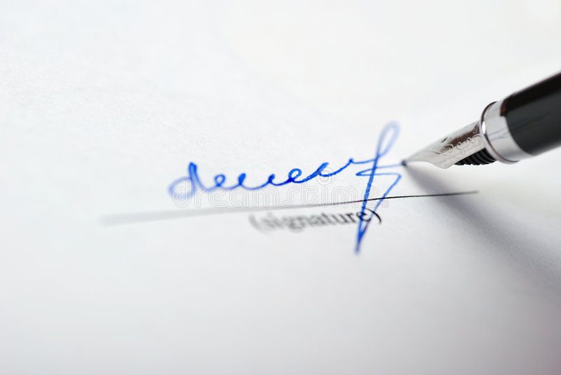 Download Signature photo stock. Image du commande, rachat, humain - 8672904