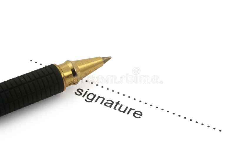 Signature and ballpoint pen #2 stock photos