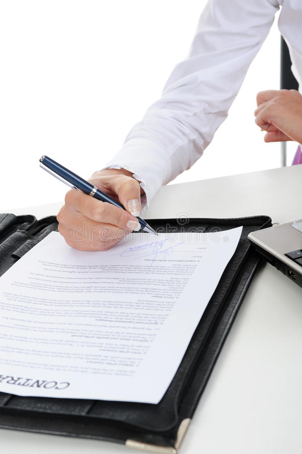 Download Signature of the contract stock photo. Image of holding - 16241274