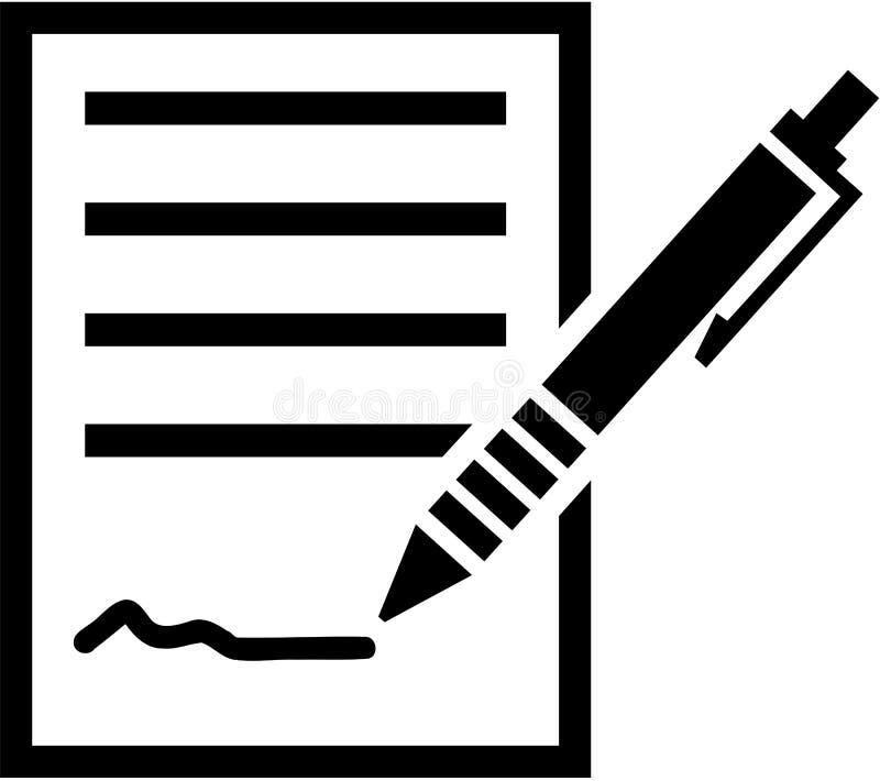 Signature d'un contrat illustration stock