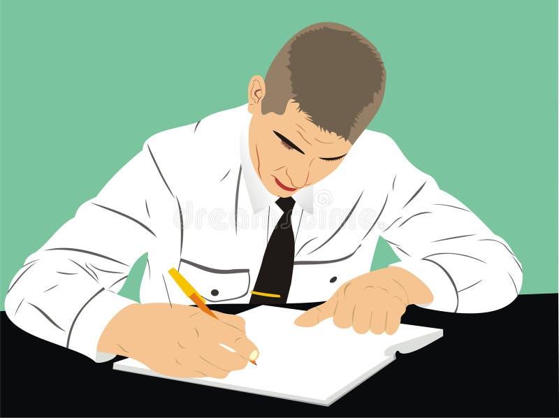 Signature de contrat illustration stock