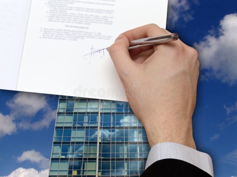 Signature de contrat d'affaires photo libre de droits
